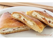 Calzone with Feta Spread and Tomato