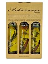 Mediterranean Flavour's Greek Extra Virgin Olive Oil X 3 Bottles in a Paper Box, 3 Diferent Flavor's