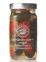 Lagadas Farm Greek Stuffed Pickled Eggplants in Glass Jar