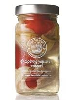 Lagadas Farm Greek Pickled Stuffed  Red Peppers in Glass Jar