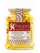 Kalypso Greek traditional cheese Ladotyri PDO from Mytilene in Extra Virgin Olive Oil