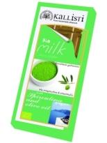 Kallisti Organic Milk Chocolate with Spirulina and Olive Oil