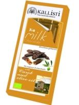 Kallisti Organic Milk Chocolate with Carob and Olive Oil