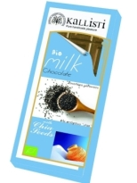 Kallisti Organic Milk Chocolate with Chia