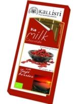 Koxyli Organic Milk Chocolate with Goji Berries