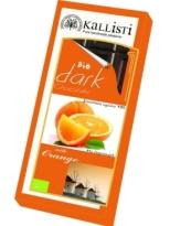 Kallisti Organic Dark Chocolate with Orange